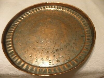 Thick copper middle eastern tray