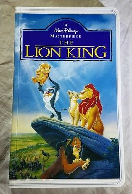 Disney Parks Lion King VHS Case Tape Notebook Journal Diary - NEW