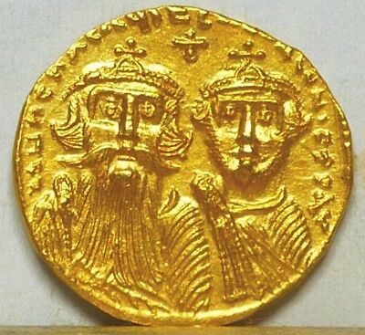 Byzantine Gold Solidus ND (613-641) AU/Uncirculated