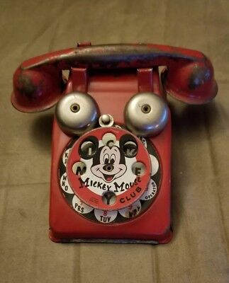 Vintage Mickey Mouse Club Rotary Phone