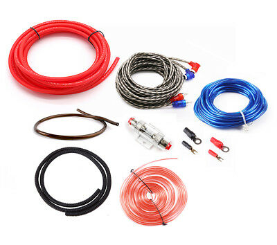3000W SoundBox 4 Ga Gauge AWG Amplifier Install Wiring Kit Amp Install Cables