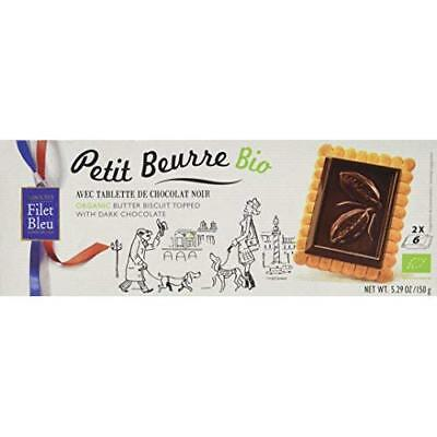 Filet Bleu Organic Buttter Biscuit With Dark Chocolate 150 g (Pack of 2)