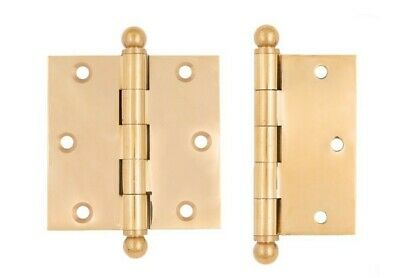 """3 1/2"""" x 3 1/2"""" inch brass ball tip hinges; swap out your gnarly antique hinges"""