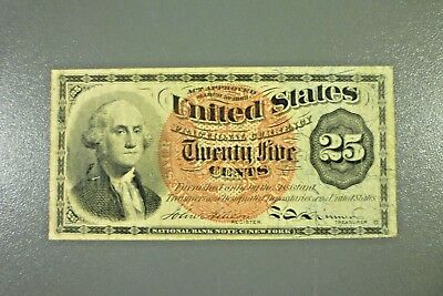 25c 4th Issue Fractional Currency George Washington Nice Note