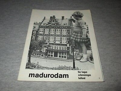 MADURODAM MINIATURE PARK-THE NETHERLANDS-1960s ERA PARK MAP