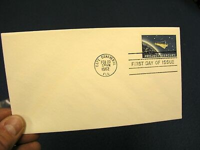 John Glenn Mercury Orbital Launch Cape Canaveral First Day Issue Postal Cover