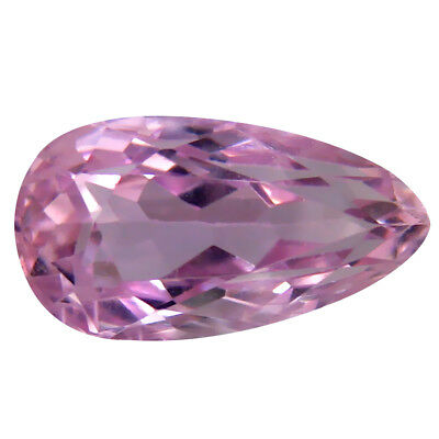 6.00 ct AAA Resplendent Pear Shape (14 x 8 mm) Pink Kunzite Natural Gemstone