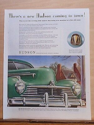 1946 magazine ad for Hudson - Grille, Triangle Emblem, Exciting 1946 models