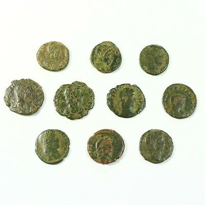 Ten (10) Nicer Ancient Roman Coins c. 100 - 375 A.D. Exact Lot Shown rm3504