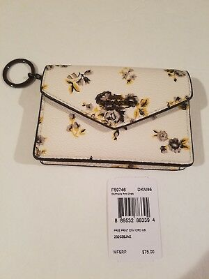 4ed6ba6621ca New Coach F59746 ENVELOPE CARD CASE WITH PRAIRIE PRINT IN CHALK COLOR  YELLOW NWT