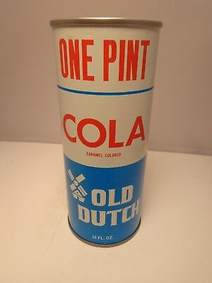 OLD DUTCH COLA STRAIGHT STEEL PULL TAB 16 oz. SODA POP CAN CHICAGO, ILL. 60653