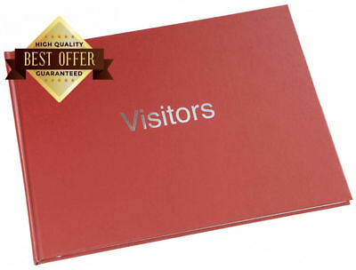 Large Hard Back 720 Entry Visitors Guest Record Book Red
