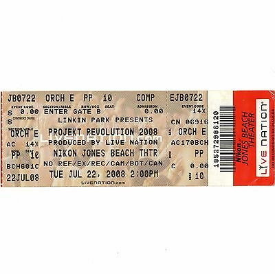 LINKIN PARK & CHRIS CORNELL Concert Ticket Stub WANTAGH NY 7/22/08 JONES BEACH