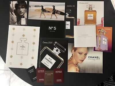 Chanel perfume fashion flyers brochures cards fashion catalogues