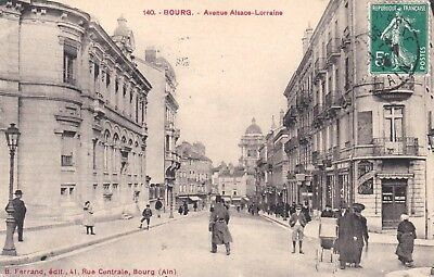 Cpa  Bourg  Jolie Carte Animee   907