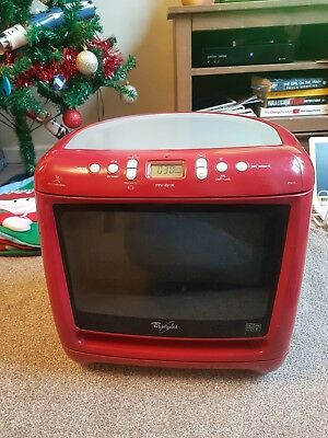 Whirlpool Max M25 Microwave Oven With Auto Steam Function Red 750w