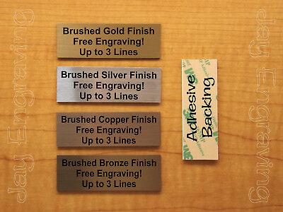 Custom Engraved 1.5 x 4 Brushed Metal Tag Sign Plate Personalized Plaque Award