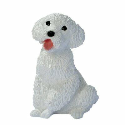 CF3435 - White Poodle Puppy Dog Statue