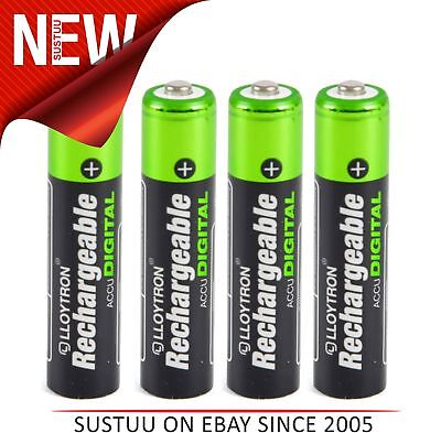 Lloytron B015 AAA 900 Ni-MH Rechargeable Camera & MP3 Player Batteries - 4 Pack