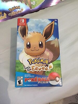 Pokémon: Let's Go,  Eevee!!! Including Poké Ball Plus (Nintendo Switch) NEW