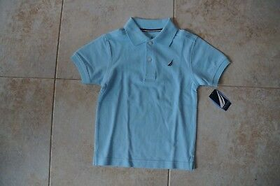 NWT Nautica Boys Polo Shirt Light Blue size 4 NEW