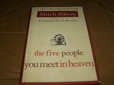 the five people you meet in heaven by Mitch Albom,HB Book/DJ,Good-Shape,2003.