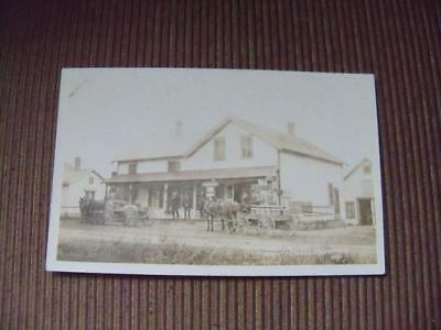 Antique 1912 Vintage Chittenango Station Ny Post Office Real Photo Postcard