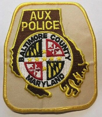 Old Baltimore County Maryland Auxiliary Police Patch Unused