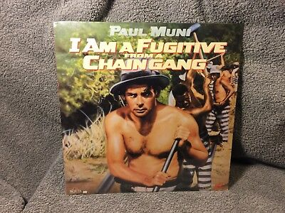 """Laser Disc """"I Am A Fugitive From A Chain Gang"""" Paul Muni, 12"""" Disc sealed NOS"""