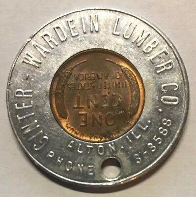 Alton Illinois Warden Lumber Co 1947 Encased Cent