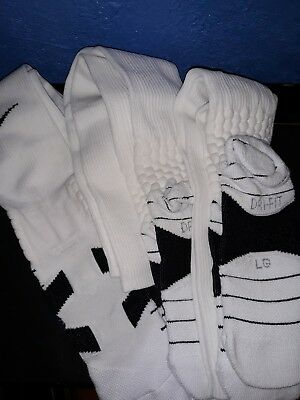 Nike Performance Cotton Cushioned Crew Socks 6 Pairs White Large 8-12