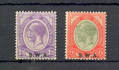 South West Africa -Swa- 1927--Sg# 56/57--* Mh Vf
