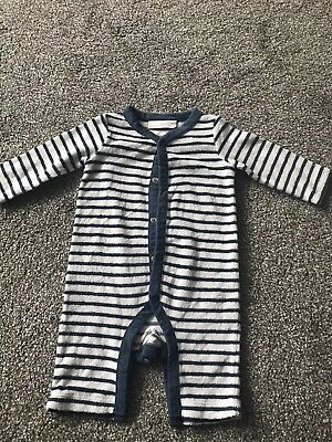 The Little White Company 0-3 Months Babygrow