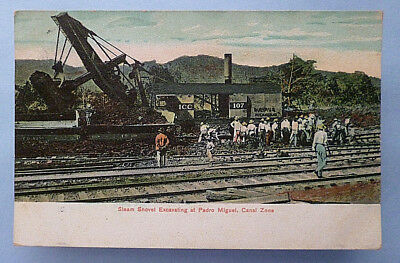 August 6, 1909 postcard from Pedro Miguel, Canal Zone, Panama Canal, Panama