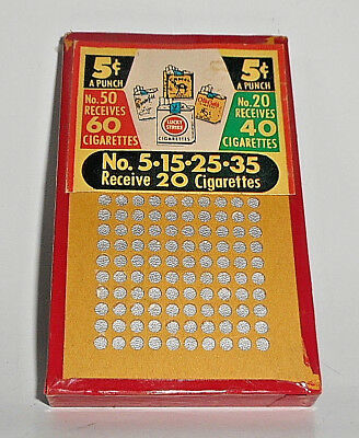 Rare Vintage Camel Chesterfield Lucky Strike Old Gold 5 Cent Cigarette Game