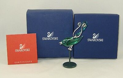 "Swarovski PARADISE Figurine ""BOALI ANTIQUE GREEN BIRD"" w/Box & COA 275 575"