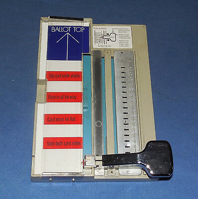 Vintage Datavote  Voting Ballot Punch Machine - Diamond International Corp.