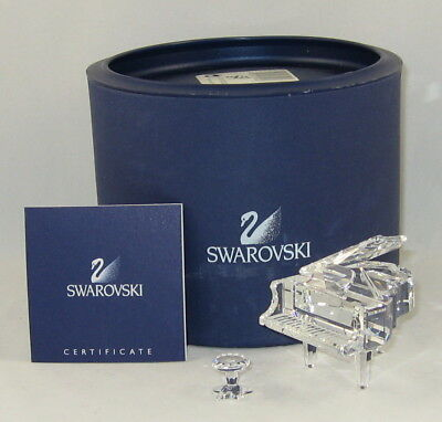 "Swarovski Figurine ""GRAND PIANO WITH STOOL"" w/Box & COA 7477 000 006"