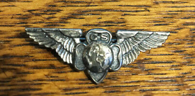 Great gift for the scout in your life Vintage Girl Scout Silver washed Wings