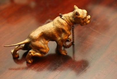 lot 65 Antique Stunning Staffordshire Bull Terrier Bronze dog possibly French