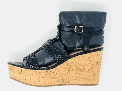 aa63f643905c NEW KATE SPADE Tianna Brown Leather Sandal Wedge Sz 7.5 -  86.00 ...