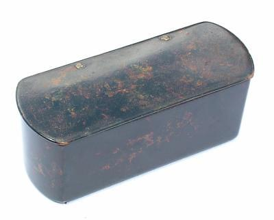 Large Antique 19Th Century Papier Mache Table Snuff Box Replicate T'shell Lot 35