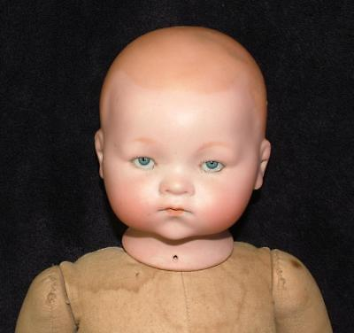 "Antique Bisque Head Armond Marseille 341 / 7 Doll 18"" Long - Lot 5"