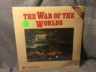 """Laser Disc """"The War of the Worlds"""" - 12""""  Disc sealed NOS"""
