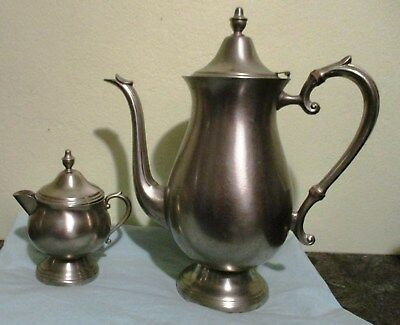 Vintage-Antique FB Rogers Lidded Coffee Pot and Creamer - 1883 Crown Trademark