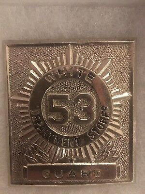 White Department Stores Guard Badge