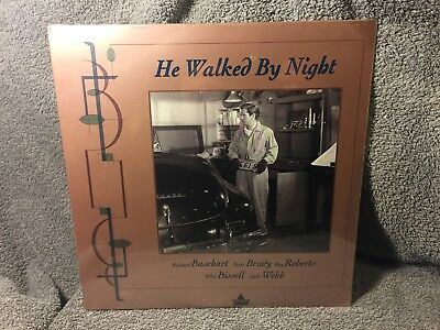 """Laser Disc """"He Walked By Night"""", 12"""" Disc Sealed NOS"""
