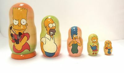 NESTING DOLLS/THE SIMPSONS/Hand Painted Matryoshka/Babushka/Russian  - H51
