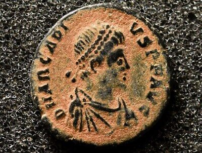 Ancient Roman Imperial bronze coin of Flavius Arcadius 383-408 AD.