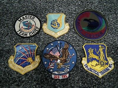 2630 Lot Of 6 Usaf Air Force Unit Patches Assorted